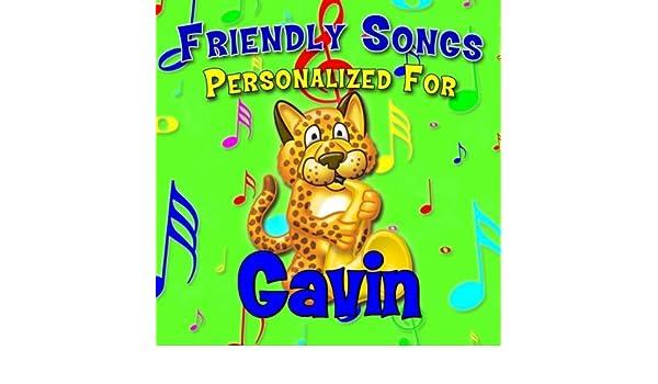 say goodnight gavin gaven gavon gavyn by personalized kid music
