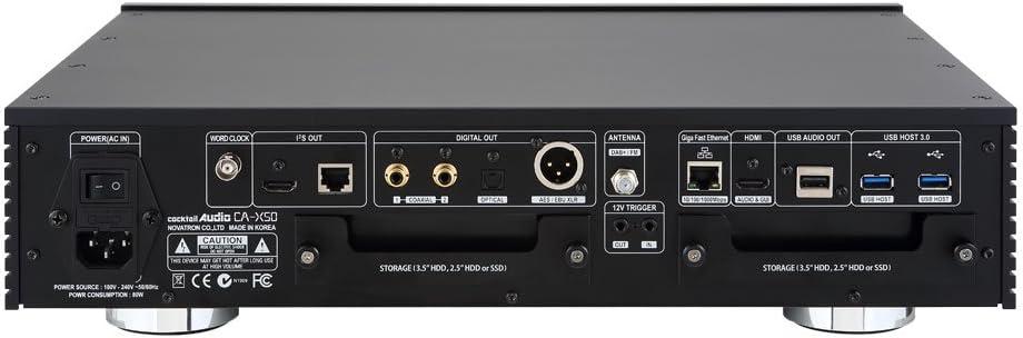 Qobuz T CocktailAudio X50 Audioserver ohne Speicher Spotify Deezer CD Ripper Streamer Silber; HighEnd Musikserver