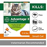 Flea Prevention for Cats, 5-9 lb, 4 doses, Advantage II