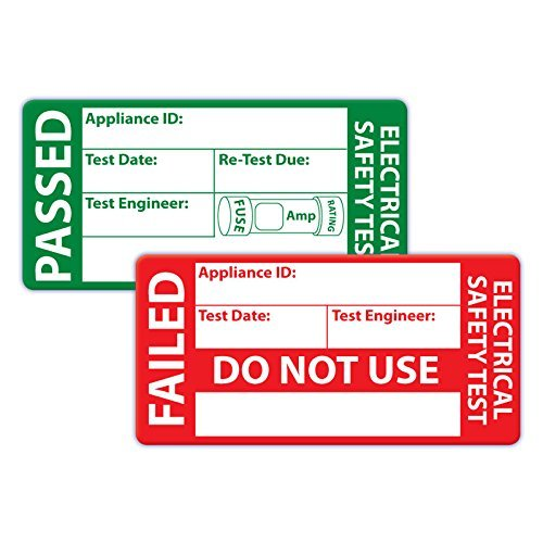 500 x Passed PAT Testing Labels & 50 x Failed PAT Testing Labels