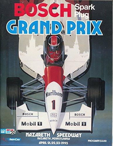 Nazareth Speedway CART Indy Car Race Program 4/21/1995-Bosch-VF/NM