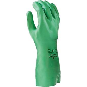 Showa 728 - Guante de nitrilo biodegradable sin forro, resistente ...