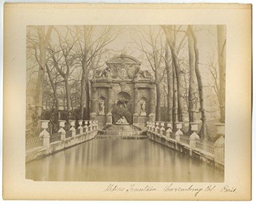 medici-fountain-luxembourg-paris-19th-century-albumen-photograph