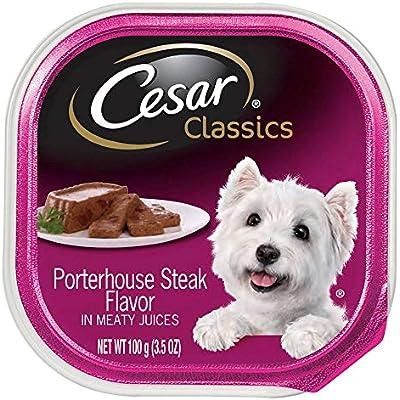 Cesar Canine Cuisine Porterhouse Steak In Meaty Juices 3.50 oz ( Pack of 24)