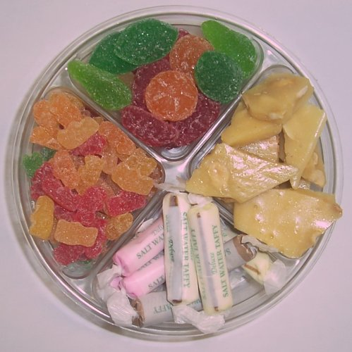 Scott's Cakes 4-Pack Salt Water Taffy, Sour Gummie Bears, Pectin Fruit Gels & Peanut Brittle by Scott's Cakes