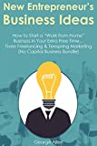 "New Entrepreneur's Business Ideas: How to Start a ""Work from Home"" Business In Your Extra Free Time... Fiverr Freelancing & Teespring Marketing (No Capital Business Bundle)"