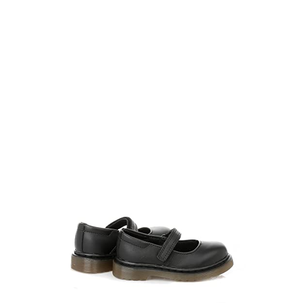Dr. Martens infantil, Negro, Tully Softy piel zapatos