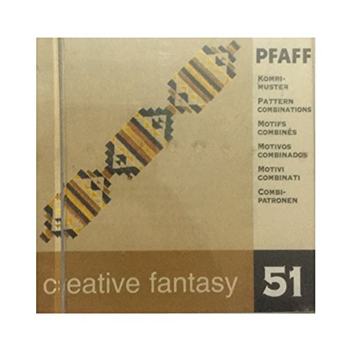 Pfaff Creative Fantasy Embroidery card design #51 for 7570 and others -Motif pattern combinations