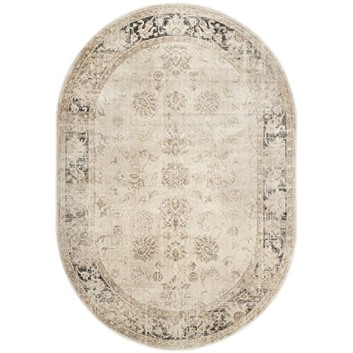 Safavieh Vintage Premium Collection VTG117-440 Transitional Oriental Stone Distressed Silky Viscose Area Rug Oval (5'3