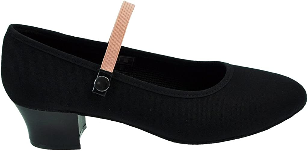 Starlite Syllabus Canvas Character Shoe Cuban Heel
