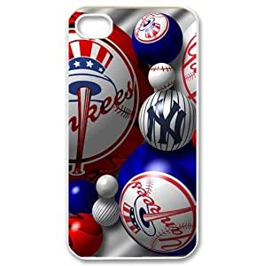 Designed iphone4/4s Hard Cases with New York Yankees team logo