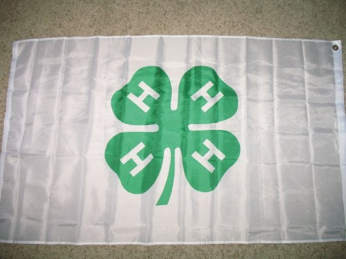 Shamrock 4h 4-H Flag 3x5 Super Polyester Flag 4 H Flags