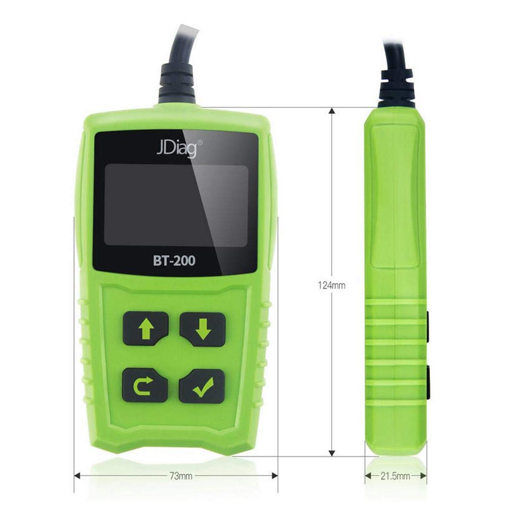 Zigtee JDiag FasCheck BT200 12V Auto Battery Tester Car Cranking and Charging System Test Scan Tool Battery Analyzer Diagnostic Tool for CCA MCA JIS DIN IEC EN SAE GB etc by Zigtee (Image #3)