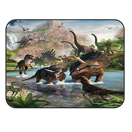 (Arts Language Area Rugs for Kids Bedroom Livingroom Cool 3D Dinosaur Animal Pattern Children Play Nursery Floor Carpet Non-Slip Mat Office Kitchen Runner Rugs 24x36in)