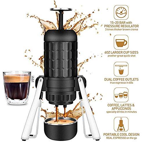 Portátil Cafetera Eléctrica Máquina de espresso manual staresso ...