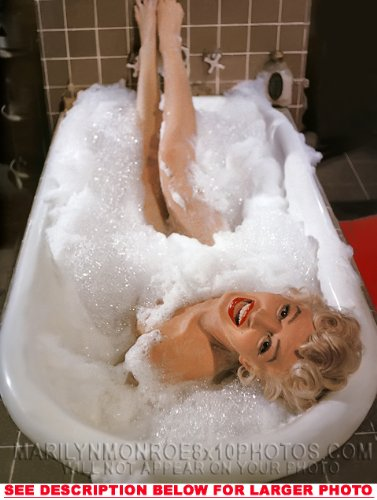MARILYN MONROE BUBBLE BATH BEAUTY (1) RARE 8x10 FINE ART PHOTO