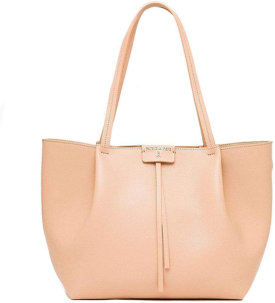 Patrizia Pepe Borsa Shopper Tasche Leder 30 cm - Handtasche beige