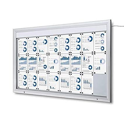 Escaparate Led 24x A4 Aluminio Cuadro de Información ...