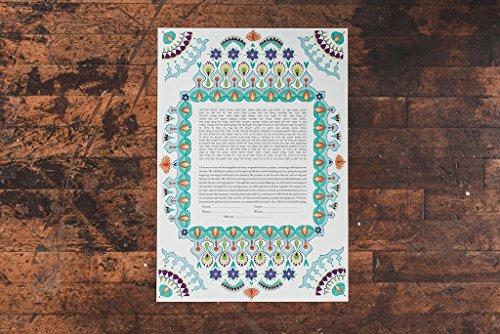 Persian Ketubah | Jewish/Interfaith Wedding Certificate | Hand-Painted Watercolor, Giclée Print by Tallulah Ketubahs