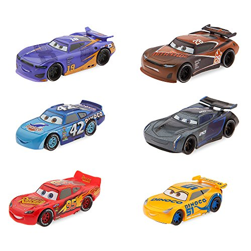 Disney Pixar Cars 3 6 Piece Vehicle Racecar Figure Play (Disney Cars Figure)