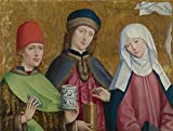 Oil Painting 'Master Of Liesborn-Saints Cosmas And Damian And The Virgin,1470-80' 10 x 13 inch / 25 x 34 cm , on High Definition HD canvas prints is for Gifts And Bed Room, Dining Room And Foy decor offers
