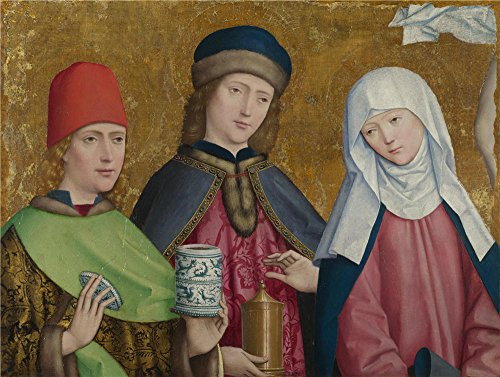 Hot Mess Express Costume (The Perfect Effect Canvas Of Oil Painting 'Master Of Liesborn Saints Cosmas And Damian And The Virgin ' ,size: 18 X 24 Inch / 46 X 61 Cm ,this Replica Art DecorativePrints On Canvas Is Fit For Foyer Decor And Home Decoration And Gifts)
