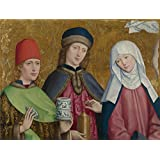 'Master of Liesborn Saints Cosmas and Damian and the Virgin ' oil painting, 30 x 40 inch / 76 x 101 cm ,printed on polyster Canvas ,this High Resolution Art Decorative Canvas Prints is perfectly suitalbe for Bathroom gallery art and Home decor and Gifts
