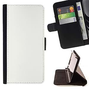 BullDog Case - FOR/Apple Iphone 4 / 4S / - / white tabula rasa clean slate snow /- Monedero de cuero de la PU Llevar cubierta de la caja con el ID Credit Card Slots Flip funda de cuer