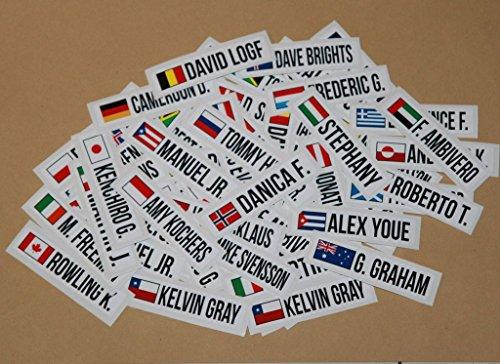 Bike stickers name 15x mini bicycle frame sticker decal helmet custom flag personalized 80mm united states
