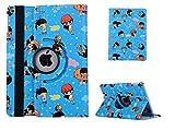 iPad 2 Case,iPad 3 Cover, Vacio Cute Cartoon Pattern 360 Degree Rotating PU Leather Flip Folio Stand Case Cover for iPad 2/iPad 3/iPad 4 9.7 inch -Blue