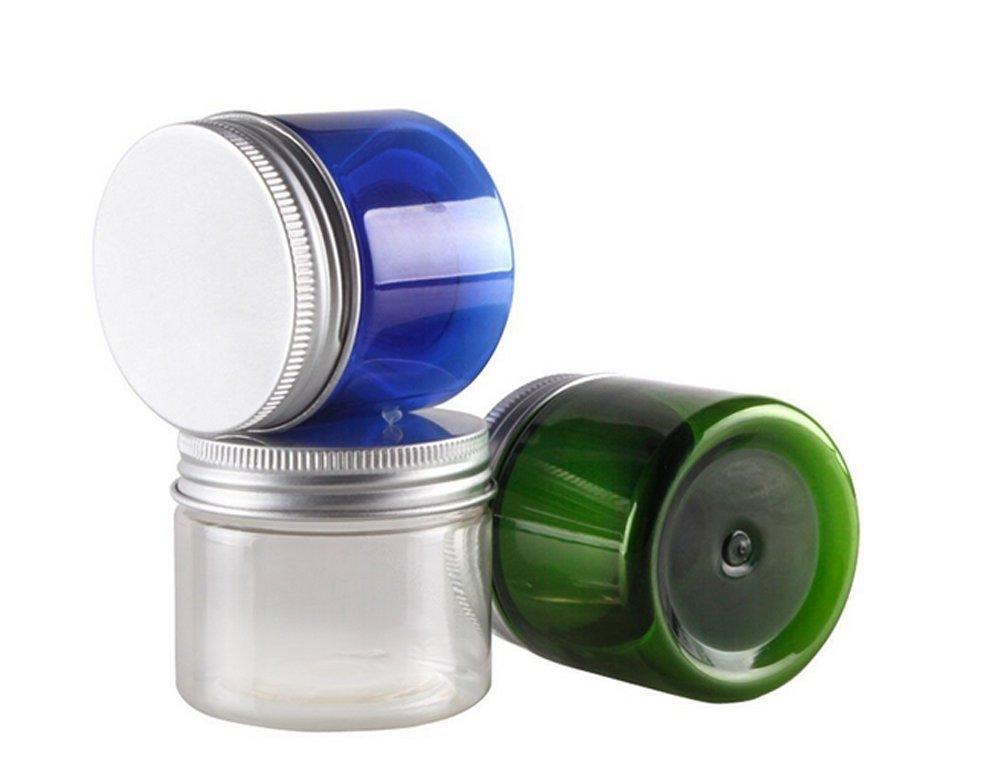 3PCS 50G PET Cosmetic Jars Makeup Containers Pot Bottle with Aluminium Cap For Cream Facial Mask Lotion Essentials Oils