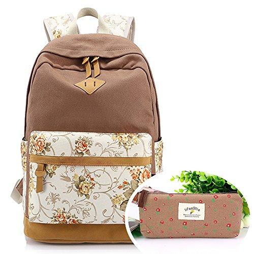 SymbolLife Girls Handbag shoulder bag backpack bag Rose Print