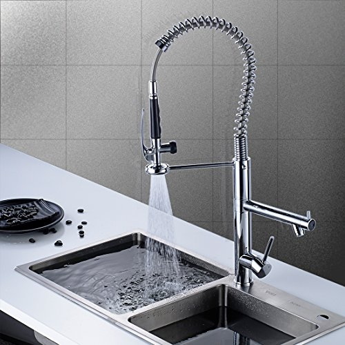 Flg pre rinse sprayer commercial style kitchen sink faucet for Japanese style kitchen sink