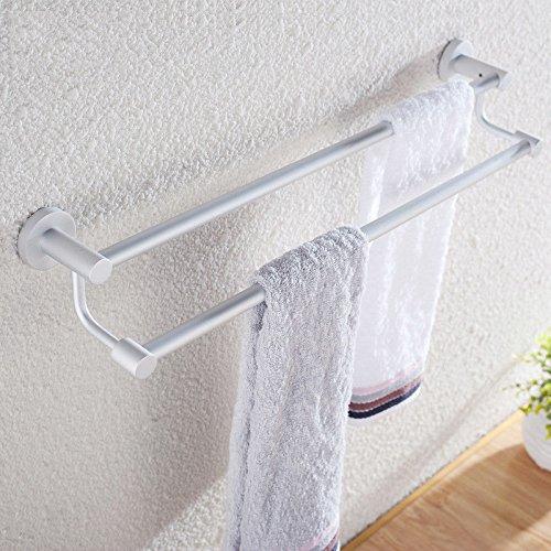 Towel Bar Space Aluminum Towel Rack Double Hanging Towel Bar Child Toilet Towel Rack Bathroom Pendant 70cm