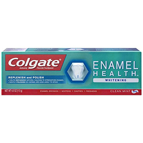 Colgate Enamel Health Plus Whitening Toothpaste, Clean Mint, 4 Ounce (Pack of 2)