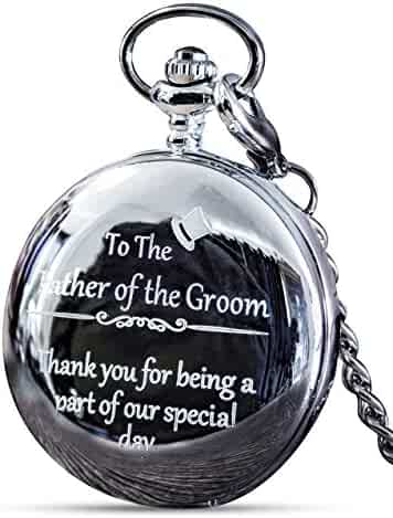 Father of The Groom Gifts - Engraved Father of The Groom Pocket Watch - The Luxury Wedding Gift Choice