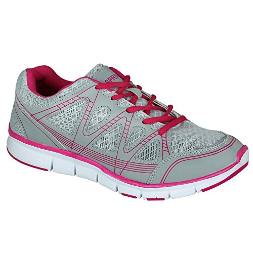 Sneaker - Schuhe - Turnschuhe - Sportschuhe Damen mit Farbauswahl Grau/Pink