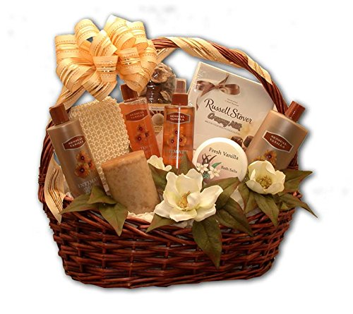 Spa Gift Basket Vanilla Bliss Bath Spa Bath Chocolate Gift Basket