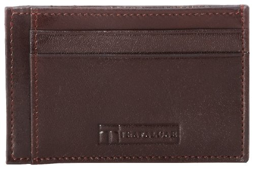 (Trafalgar Men's Cortina Card Sleeve,Dark Brown,One Size)