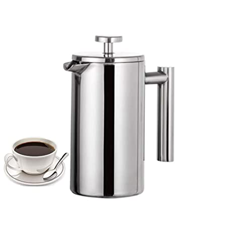 YMY Stainless Steel French Press Cafetera Francesa de Acero ...