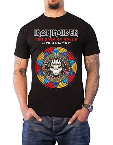 Iron Maiden T Shirt Book of Souls Live Chapter 2017 Official Mens Black Size XL