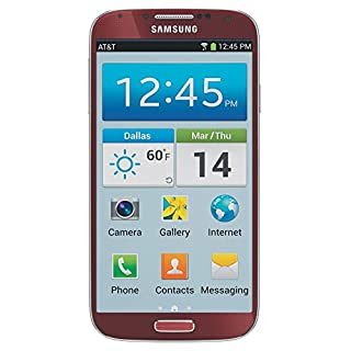 Samsung Galaxy S4 SGH-I337 Unlocked GSM Smartphone w/ 13 MP Camera - Red (No Warranty)