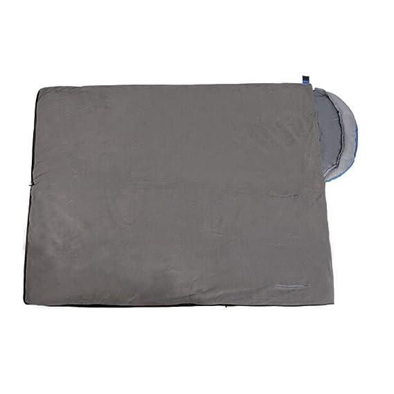 8haowenju Saco de Dormir para Adultos al Aire Libre, portátil, de Doble Capa, Tiene una Abertura para Extender Las Manos, Azul.