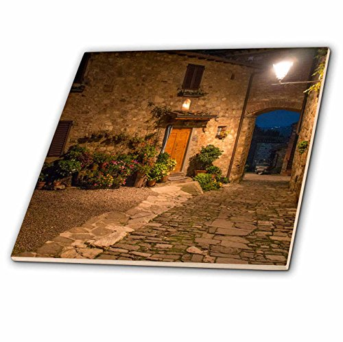 3dRose ct_205614_1 Italy, Tuscany. Montefioralle near the town of Greve in Chianti-Ceramic Tile, 4