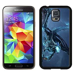 Fashionable Samsung Galaxy S5 I9600 Case ,Unique And Lovely Designed Case With World Of Warcraft Dragon Cold Mountain Black Samsung Galaxy S5 Cover Phone Case