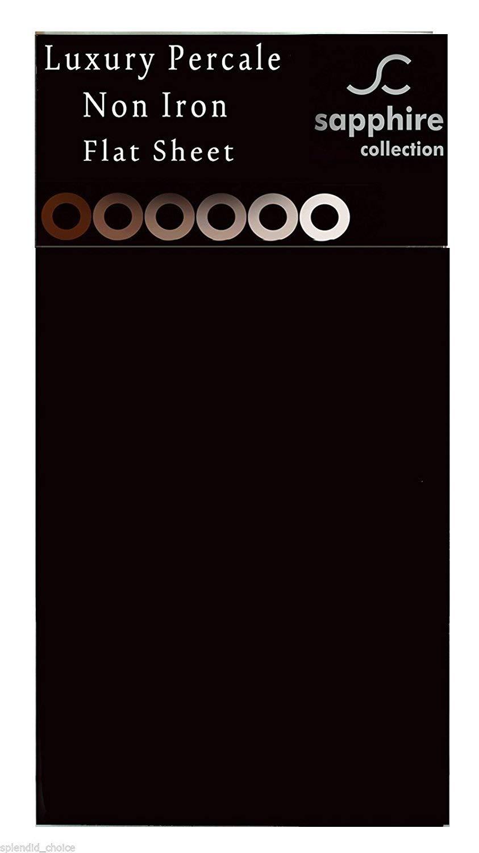 Red repassage superflu 50 /% coton Drap plat uni en percale de polycoton 180/fils plusieurs dimensions disponibles 50 /% polyester Double