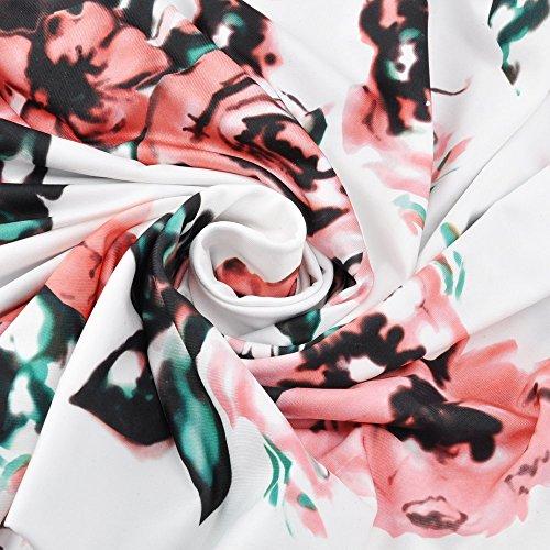 Blanc ROFLK006850 Odomolor Ouverture PU Cuir Sandales Correct d'orteil à Boucle Talon Femme ZW6fRw