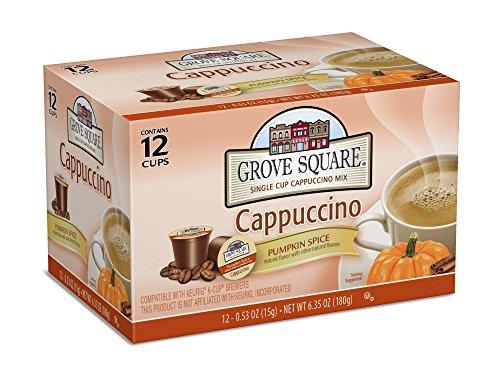 Grove Square Cappuccino, Pumpkin Spice, 12 Single Serve Cups