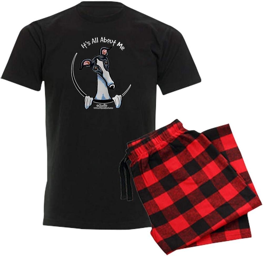 CafePress White Black Greyhound IAAM Pajama Set