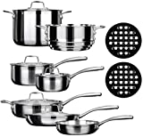 Best Induction Cookware Sets - Duxtop SSC-14PC 14 Piece Whole-Clad Tri-Ply Induction Cookware Review